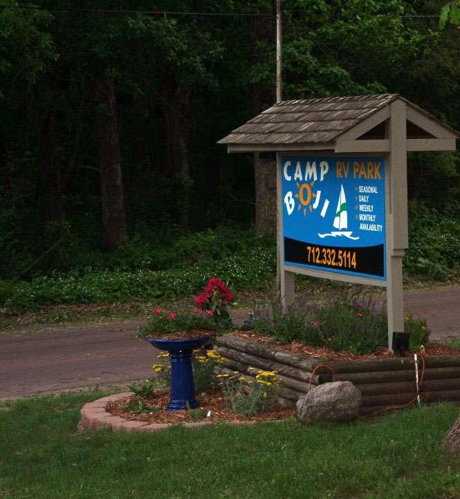 Camp Boji Sign