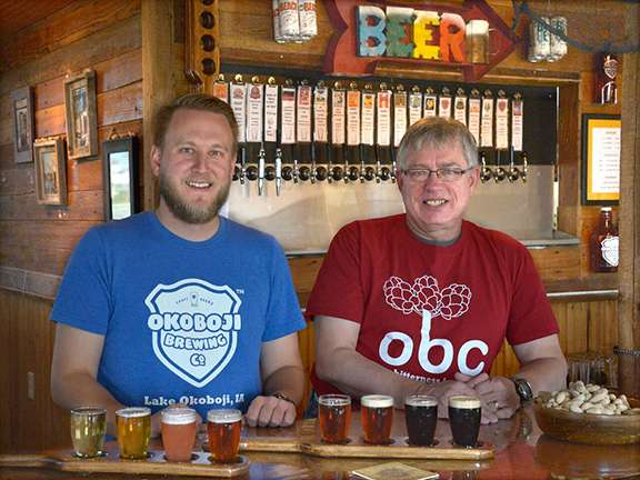 Okoboji Brewing Company beer flights