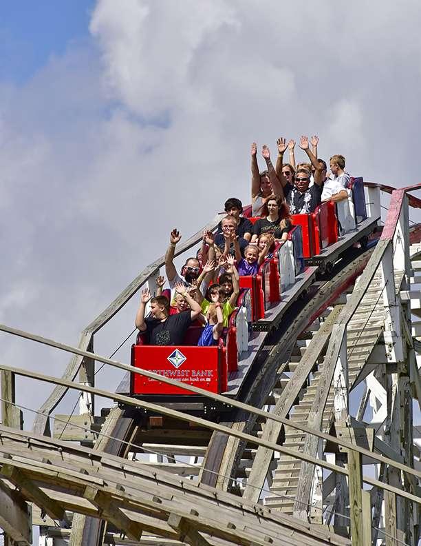 Arnolds Park roller coaster