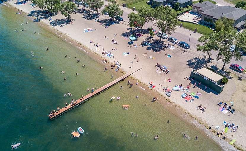 Beach drone photo