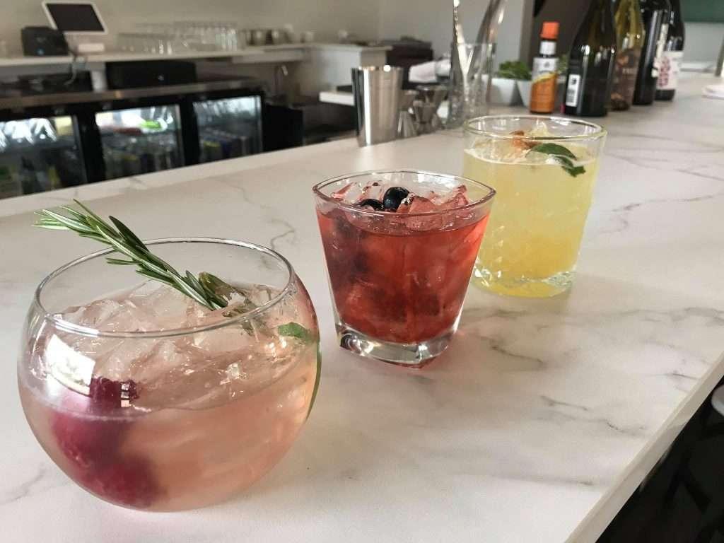 Pretty Drinks on bar