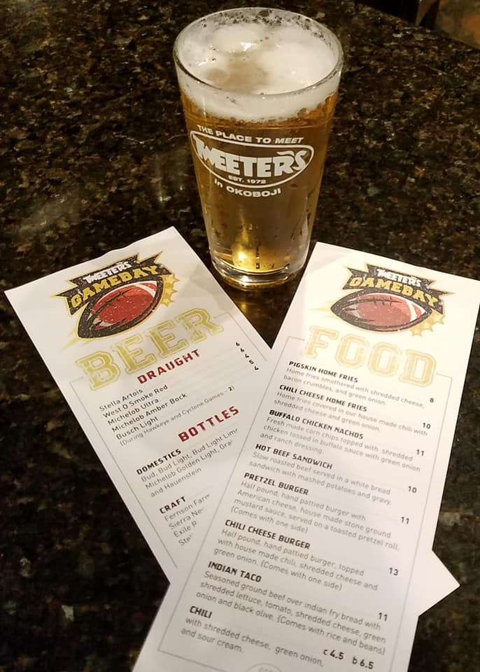 Tweeters beer with menus