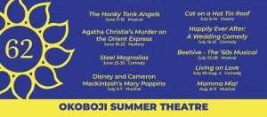 Okoboji Summer Theatre Schedule graphic