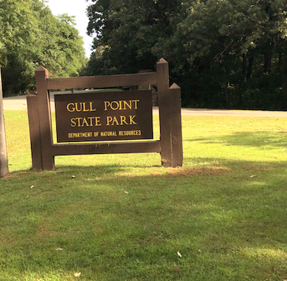 Gull Point State Park sign