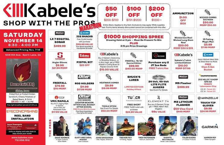Shop with the pros promo