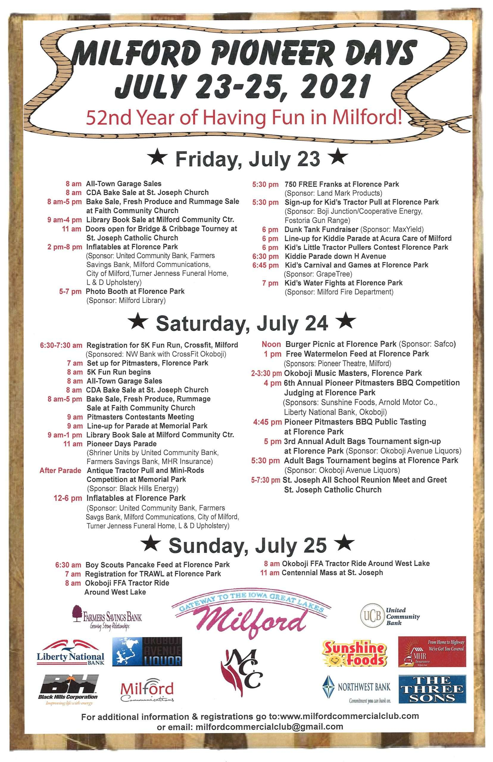 Pioneer days poster