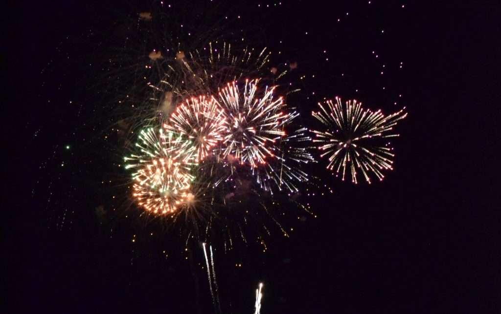 fireworks in Okoboji, Iowa