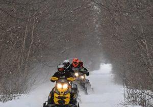 Snowmobile the Okoboji Trails