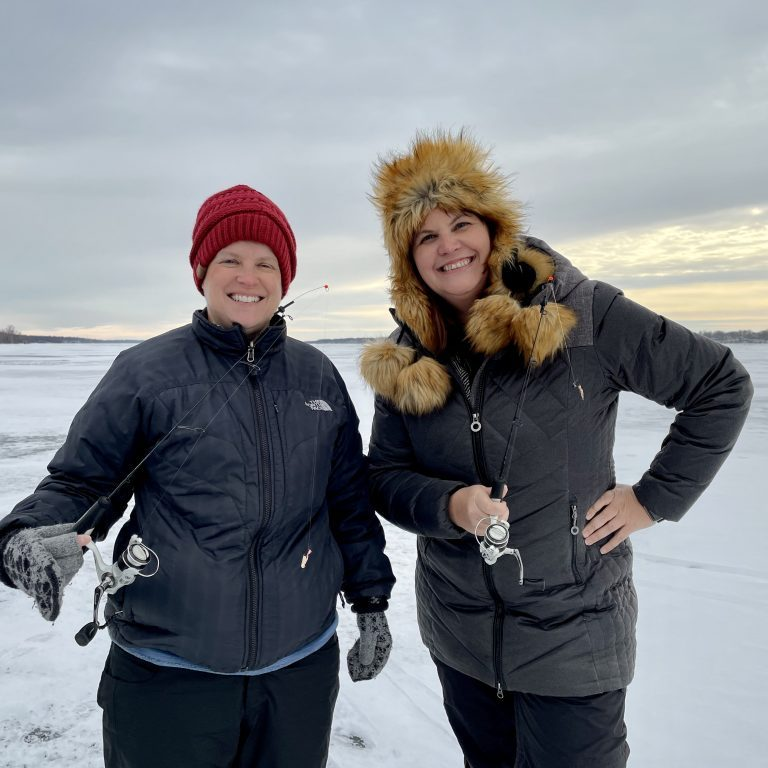 Laurie & Rebecca Ice Fishing